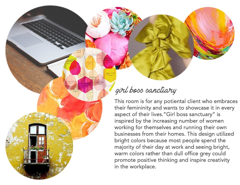 Girl Boss Sanctuary. Interior Decorator Ashley Rose Marino. Ashley Marino Designs of Dallas Fort Worth, TX.