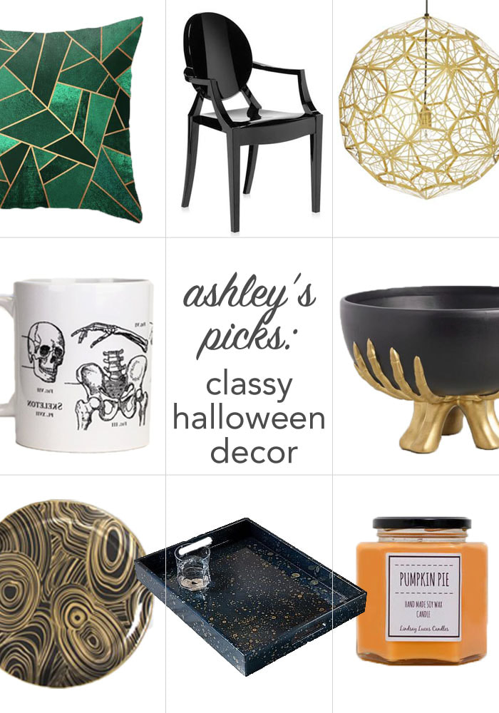 Ashley's Picks: Classy Halloween Decor. Ashley Marino Designs in Dallas Fort Worth, TX.